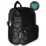 НОВИНКА!!! Рюкзак, размер 29x22x10 см, выполнен из ткани, расшитой глянцевыми двусторонними пайетками. Основное отделение и фронтальный карман на молнии, уплотнённые лямки, регулируемые по длине. Индифидуальный ПЭТ-пакет