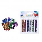 Набор пайетки декоративных, 6 цветов х 2.5 г, в пластиковых тубах, ОПП-упаковка с европодвесом