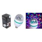 Светодиодная диско-лампа разноцветная LED MINI PARTY LIGHT + вилка в комплекте