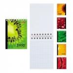 Блокнот 40л А7ф клетка на гребне серия - iFRESH-