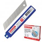 Лезвия для ножей 18 мм BRAUBERG, КОМПЛЕКТ 10 шт., толщина лезвия 0,5 мм, в пластиковом пенале, 230925