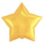 """Шар Agura Звезда """"Светлое золото"""" однотон (21д, 50см, 25ш) 753217 цена за 1шт"""