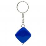 Брелок-рулетка, 2.5*2.5 см, пластик, синий, рулетка-50 см