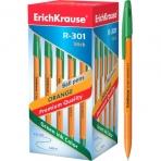 Ручка шариковая ErichKrause® R-301 Orange Stick 0.7, цвет чернил зеленый (в коробке по 50 шт.)