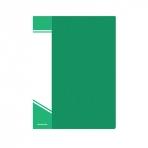 Папка с файлами inФОРМАТ А5 20 файлов зелен. пластик 550 мкм карман