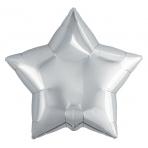 Шар Agura Звезда Серебро (9д, 23см, 25шт, без клапана) 755716 цена за 1шт