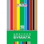 Набор бумаги цветной Мелованной 10л 10 цв. А4ф 195х280мм в папке-Creative Set-