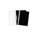 Папка -Скоросшиватель А4ф 100/120мкм Черная Пластиковая прозрачный верх ASp_04601   Хатбер