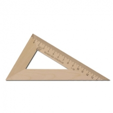 Треугольник деревянный, угол 30, 16 см, УЧД, с 139