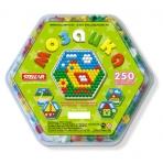 Мозаика (диаметр 13мм/250шт) шестигранная коробка, 22*20*3 см
