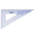 Треугольник пластиковый 30х13 см, ПИФАГОР, тонированный, прозрачный, 210617