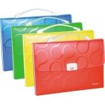 Папка-портфель OMEGA A4, карманы для CD и визитных карт, PP, 0,7 мм, 33х24,5х4,5 см, желт