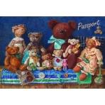 """Обложка для паспорта """"Медведи"""" арт.35678 (13,3*19,1, из ПВХ)"""