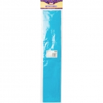 Бумага цветная, крепированная, рулон 250 х 50 см, голубая