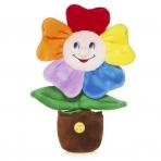 Мягкие Игрушки Веселый Цветочек в Горшочке, Озвученный, 25 См