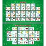 Карточка-шпаргалка Алфавит русский. Алфавит английский 1-80-0025