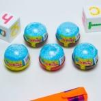 Слайм Плюх голубой с шариками, капсула, 40 гр
