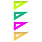 Треугольник 30*, 10 см, флюоресц., 4 цв.