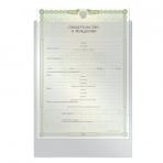 Папка-файл для свидетельства о рождении, 190*263 мм, без отверстий, 0,12 мм, ДПС, 1746