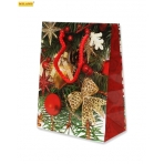 Пакет подарочный Новогодние украшения (S) ПП-1892