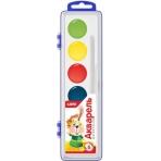 Акв-005 Акварельная краска в пластм уп (узкая) 6 цветов, б/к