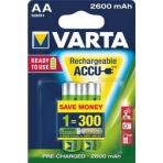 Аккумуляторы VARTA AA R2U 2600мАч бл.2