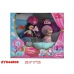 """Игровой набор """"Ванная"""", в сумочке (2 куклы, мебель в комплекте)"""