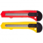 Нож Канцелярский Hatber X-BLADE 18мм PUSH-LOCK в пакете с европодвесом