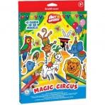 игровой 3D пазл для раскрашивания Artberry/Magic Circus (6 флом+2 карты с фигур д/сборки)