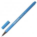 Ручка капиллярная BRAUBERG Aero, трехгранная, металлический наконечник, 0,4мм, голубая, 142259