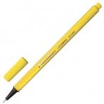 Ручка капиллярная BRAUBERG Aero, трехгранная, металлический наконечник, 0,4мм, желтая, 142248