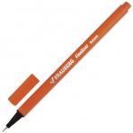 """Ручка капиллярная BRAUBERG """"Aero"""", ОРАНЖЕВАЯ, трехгранная, металлический наконечник, линия письма 0,4 мм, 142249"""