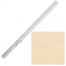 "Бумага масштабно-координатная, рулон 878 мм х 10 м, оранжевая, STAFF ""College"", 122811"