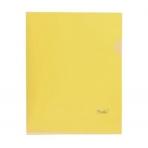 Папка-Уголок Пластиковая А4ф Hatber 180мкм Желтая (без ед штрихкода)