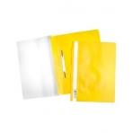 Папка -Скоросшиватель А4ф Hatber 120/160мкм Желтая Пластиковая прозрачный верх с един.штрих-кодом