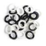 Силиконовые резинки для волос ПРУЖИНКА большие черно-белые (5 см) 5 шт. в упаковке