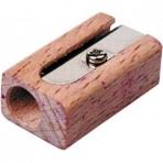 Точилка деревянная прямоугольная одинарная.