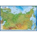 Россия Физическая 1:7,5М (с ламинацией в тубусе) 116х80