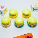 Слайм Плюх желтый с шариками, капсула, 40 гр